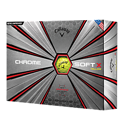 Chrome Soft X Logo balls - Yellow