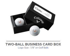 Callaway 2-Ball Business Card Box - TWO-BALL BUSINESS CARD BOX